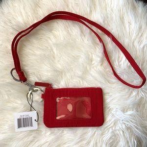 NEW Vera Bradley Zip ID Case Holder w/ Lanyard